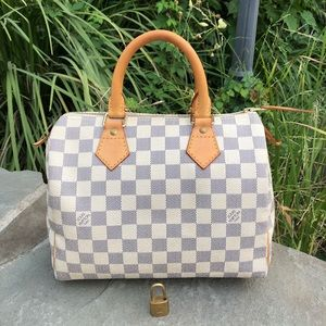Authentic Louis Vuitton Azur Speedy 25
